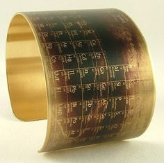 Periodic Table of Elements - Steampunk Style Brass Cuff Bracelet
