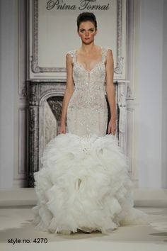 Daring and Sexy Pnina Tornai Wedding Dresses Spring 2014 Part 2. To see more: http://www.modwedding.com/2014/01/04/daring-sexy-pnina-tornai-wedding-dresses-spring-2014-part-2/ #wedding #weddings #fashion