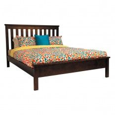 Memphis Queen Bed, Dark