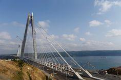 A general view shows the Yavuz Sultan Selim Bridge, the third Bosphorus bridge…