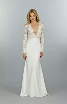 I like that lace is kept to the top and the bottom is left plain and simple.