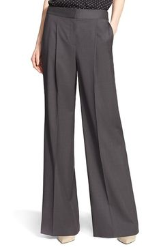 Nordstrom Signature and Caroline Issa Wide Leg Wool Suiting Trousers Grey Dress Pants, Pants Outfit, Suit Pants, Tailored Trousers, Wide Leg Trousers, Caroline Issa, Wrap Pants, Nordstrom, Business Attire