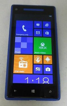 Unlocked HTC Windows 8x Blue 16GB AT&T Excellent Cond. Clean IMEI- Fast Shipping