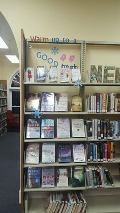 Warm up to a good book winter book display Adult Jan book display Library Book Displays, Library Books, Display Ideas, Good Books, Warm, Winter, Winter Time, Great Books, Winter Fashion