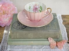 Items similar to SALE - Vintage Shelley Pink Tea Cup and Saucer - was now on Etsy Café Vintage, Vintage China, Vintage Teacups, Vintage Tableware, Vintage Books, Pink Tea Cups, Teapots And Cups, My Cup Of Tea, Tea Cup Saucer
