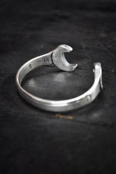 silver bracelet jewelry 740x1113 Silver Wrench Manacle by Blitz Motorcycles