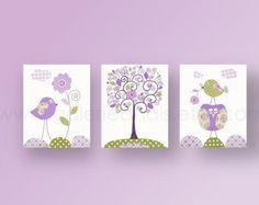 Hedgehog vivero bebé vivero decoración púrpura y por GalerieAnais