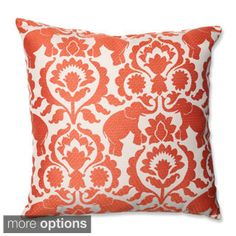 Pillow Perfect Babar Elephant Spice Throw Pillow