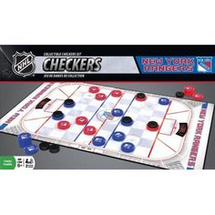 MasterPieces NHL New York Rangers Checkers Game, Multicolor