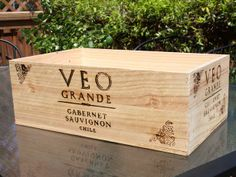Transform a Wine Crate Into a Decorative Storage Box : Decorating : Home & Garden Television
