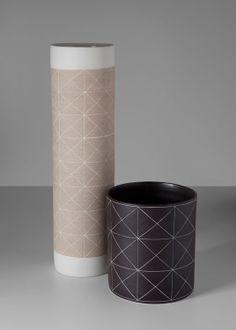 Gilberto Paim and Elizabeth Fonseca; Glazed Ceramic Vases, 2011.