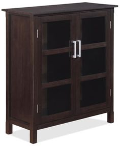 Simpli Home Rockville Medium Storage Cabinet Direct Ship