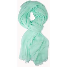 FOREVER 21 Everyday Woven Scarf ($3.99) ❤ liked on Polyvore featuring accessories, scarves, mint, woven scarves, forever 21, woven shawl, viscose scarves and braided scarves