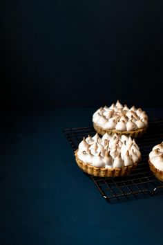 Lemon meringue pies.