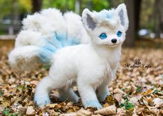 Poseable toy commission Alola Vulpix by MalinaToys on DeviantArt Baby Animals Super Cute, Cute Stuffed Animals, Cute Little Animals, Cute Fantasy Creatures, Cute Creatures, Magical Creatures, Pokemon Dolls, Mystical Animals, Cute Pokemon Wallpaper
