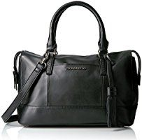 Tignanello Urban Casual Barrel Satchel, Black