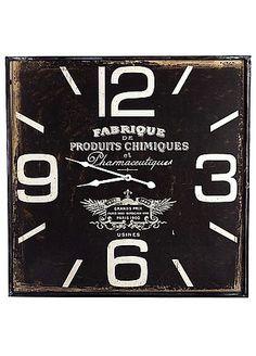 Office Decorator - Square Black Fabrique Clock 60cm