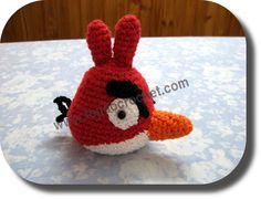 Angry Bird rojo en tejido crochet