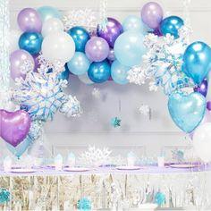 Frozen Cake Topper Mini Balloons | Purple and Blue Mini Balloon Cake Topper Kit