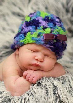 Fluffy and Fun Beanie Crochet Pattern with by RebeccaAnnCreations, $5.00