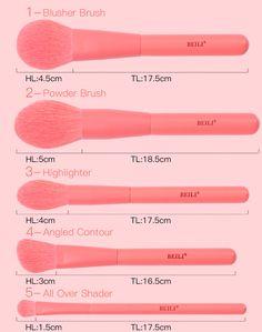 BEILI Premium 15 pcs Synthetic Makeup brushes Set Coral Nano Hair Foundation Powder Face Contour Eye shadow Make up Brushes Face Contouring, Eye Contour, Powder Foundation, Makeup Brush Set, Wooden Handles, Synthetic Hair, Eye Shadow, Brushes, Coral