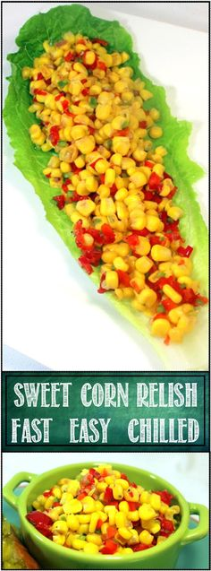52 Ways to Cook: Fast and Easy Chilled Sweet Corn Relish - 52 Side Dish Recipes Corn Relish Recipes, Corn Recipes, Canning Recipes, Vegan Recipes Easy, Side Dish Recipes, Tuna Recipes, Fast Recipes, Bread Recipes, Recipies