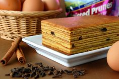 Kueh (possible spelling variation: kuih, kway, kue) Lapis, also known as 'kek lapis', 'kueh lapis legit', 'spek koek', 'spekkuk', is a traditional Indonesian layered spice cake, baked with an insanely unhealthful amount of butter and egg yolks.