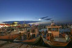 Twitter / RomagnaCom: una romantica passeggiata serale nel porto di #Cattolica