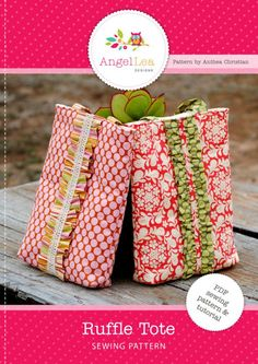 PDF Sewing Pattern for Ruffle Tote Bag