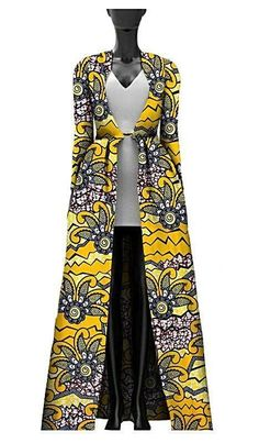 African Print Batik Trench-Styling Coat #AfricanFashion
