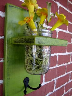 Wooden Mason Jar Decor