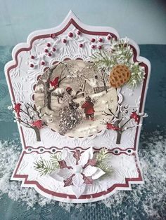 Kerstkaart Christmas Card Crafts, Merry Christmas Card, Christmas Mom, Christmas Cards To Make, Xmas Cards, Handmade Christmas, Ticket Card, Marianne Design Cards, Heartfelt Creations Cards