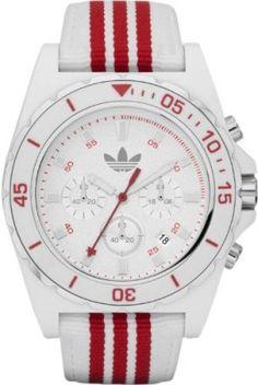 Relógio Adidas ADH2666 STOCKHOLM White Red Chronograph Watch #Relogios #Adidas