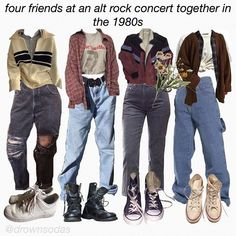 hehe i've been listening to the smiths all day today, they're so nice:))))) - sweater in the very first outfit is from Indie Outfits, Teen Fashion Outfits, Retro Outfits, Grunge Outfits, Cute Casual Outfits, Vintage Outfits, Grunge Clothes, Formal Outfits, Rock Outfits