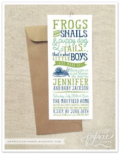 Empress Stationery: Frogs Snails and Puppy Dog Tails!