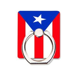 Puerto Rico Flag Phone Ring Holder Soft TPU Silicone Case Cover for iPhone 4 4S 5C 5 SE 5S 6 6S 7 Plus
