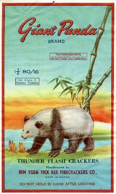 """Giant Panda"" Vintage Firecracker Label"