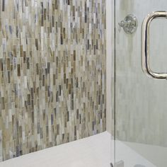 Arizona Tile offers a wide selection of glass tile for backsplashes and other surfaces for your kitchen & bath. View glass mosaic tiles, glass listelles and iridescent glass tiles. Dark Brown Cabinets, Arizona, Tile, House Ideas, Curtains, Bathroom, Glass, Washroom, Mosaics