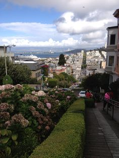 View from the Crookedest Street. San Francisco.