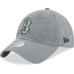 Women s Boston Red Sox New Era Gray Swift 9TWENTY Adjustable Hat 9a4712fcf75