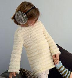Modèle pull tunique fille
