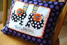 Everyday Insanity...: Witchy Pillow!
