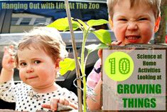 10 GREAT Science activities exploring things that grow. GREAT fun for the kids.