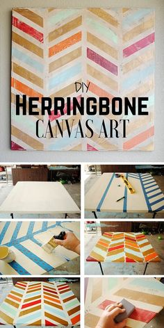 Check out the tutorial: #DIY Herringbone Canvas Art @istandarddesign