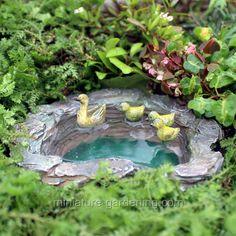 Miniature Gardening - Mallard's Pond #fairygarden