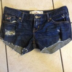 DIY too Cute Hollister shorts Yes I did it myself. Too cute & ready for you to wear. They were fairly new jeans. Hollister Jeans