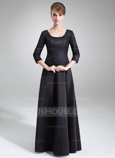 Mother of the Bride Dresses - $156.99 - A-Line/Princess Scoop Neck Floor-Length Satin Lace Mother of the Bride Dress (008006504) http://jjshouse.com/A-Line-Princess-Scoop-Neck-Floor-Length-Satin-Lace-Mother-Of-The-Bride-Dress-008006504-g6504