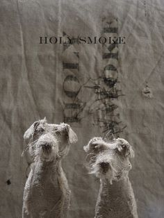 holy-smoke.co.uk/…  ***  HOLY SMOKE offers a collection of handmade animals and wire sculptures. Using natural linen and vintage textiles the animals are drawn with hand stitching to convey expression and character.