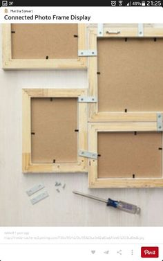 Photos Photo Frame Display, Photo Displays, Picture Frame Decor, Display Ideas, Picture Wall, Home Crafts, Diy Home Decor, Diy Crafts, Diy Projects To Try