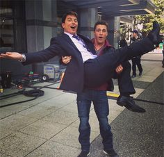 John Barrowman and Colt Haynes